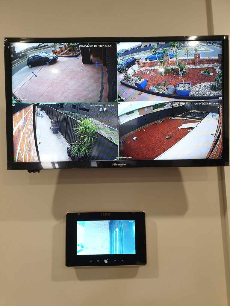 CCTV system installed inside a melbourne home