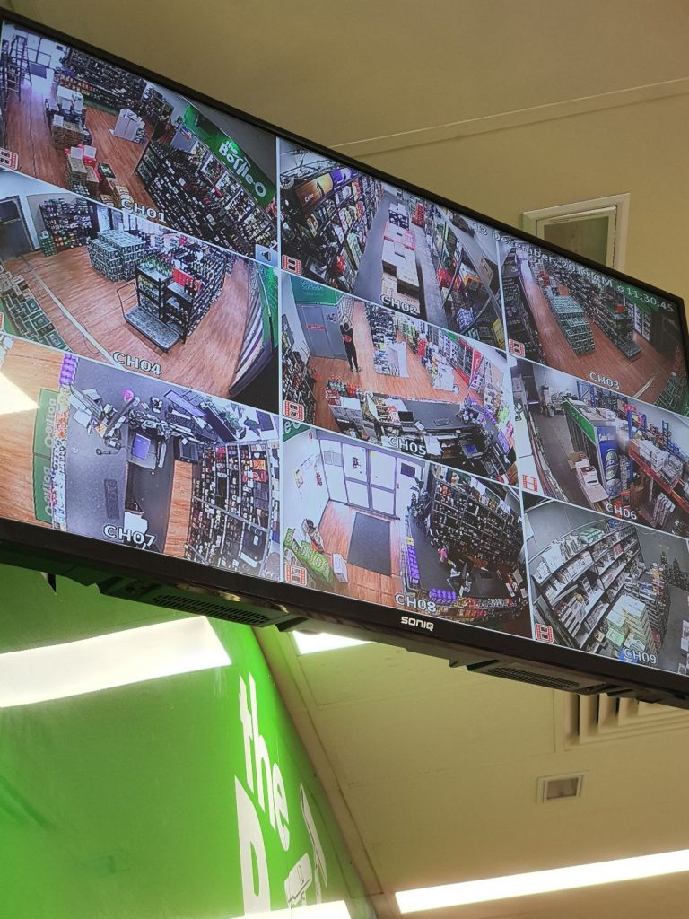 a TV for CCTV footage in commercial business